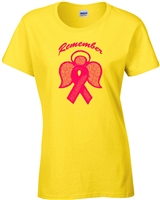 Remember Breast Cancer Awareness JUNIOR FIT LADIES T-Shirt (998)