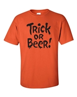 Trick or Beer!! Halloween Men's T-Shirt (343)