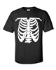 Skeleton Ribs Halloween Men's T-Shirt (478)