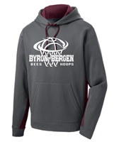 Byron-Bergen Basketball Sport-Tek Fleece Hooded Pullover (st235)