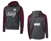 Bryon-Bergen Softball 1/4 Zip Hooded Sweatshirt (ST249)