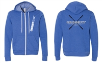 Crossfit NKY Bella Canvas Unisex Fleece Full-Zip Hoodie (3739)