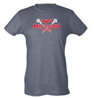 Milford Lacrosse R&W Design Ladies Slim-Fit Tultex T-Shirt (240)