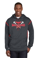 Milford Lacrosse R&W Design Sport Tek Fleece Hooded Sweatshirt (f246)