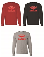 Milford Eagles Long Sleeve T-Shirt (#2-Words)