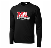 Pattison Elementary LONG SLEEVE Dri-Fit T-Shirt (ST350LS,YST350LS)