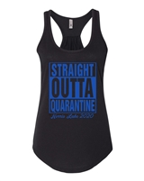 Straight Outta Quarantine Norris Lake Ladies Racerback Tank (6338)