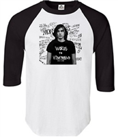 Spencer Anthony Words to Hide Behind Raglan 3/4 Sleeve T-Shirt (245TC)