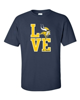 St Veronica LOVE Vikings Youth/Men's Tshirt (Design# 1)