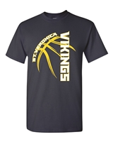 St. Veronica Viking Basketball Men's, Ladies, Youth T-Shirt (5000/L/B)