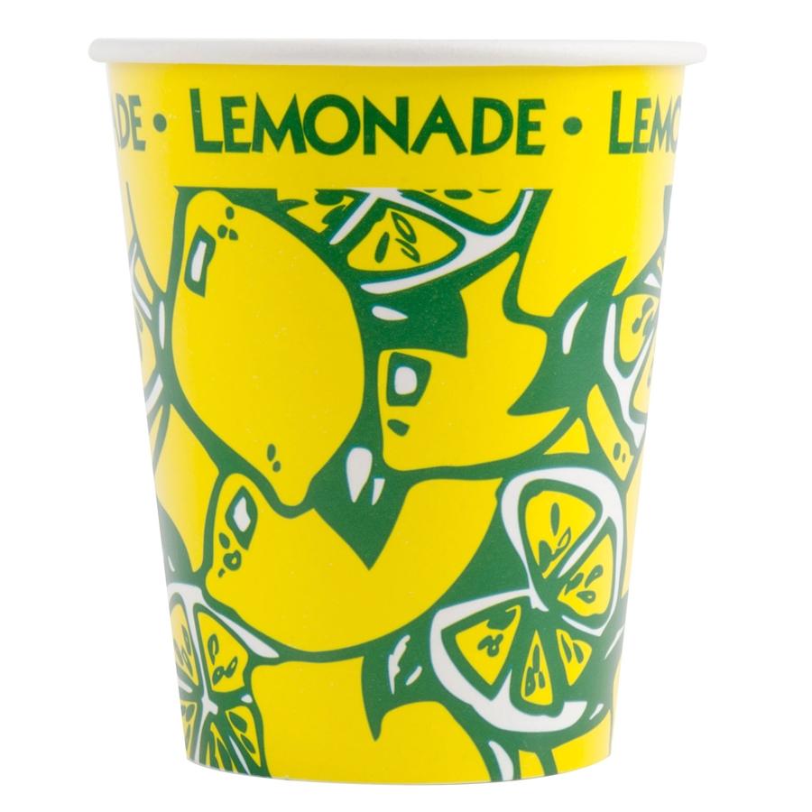 16oz Squat Printed Paper Lemonade Cup 1000 Qty Per Case