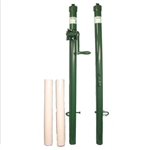Wilson Pickleball Net Posts for permanent court installation, choose from green or black color options.