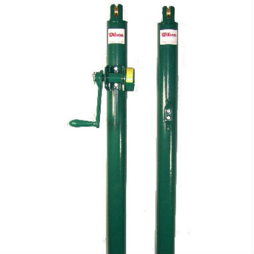 Wilson Heavy-Duty Net posts are designed for permanent court installation, choose from black or green steel posts.