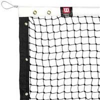 Wilson Pickleball Net - regulation size net features steel cable through vinyl headband.