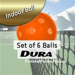 Pickleball Balls Dura Indoor Orange Six Pack