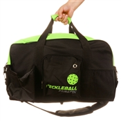 "Pickleball Paddle Duffle Bag that reads ""Pickleball Fanatic"" on the side. Available in gray, green or royal blue."