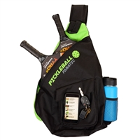 Pickleball Paddle Pickleball Fanatic Sling Bag , available in gray, green or blue.