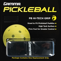 Black Pickleball Paddle PB Hi-Tech Grip by Gamma