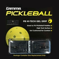 Black Pickleball Paddle PB Hi-Tech GEL Grip by Gamma