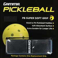 Black Pickleball Paddle PB Super Soft Grip by Gamma.