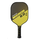 Yellow and Black Micron 2.0 Pickleball Paddle by Gamma.