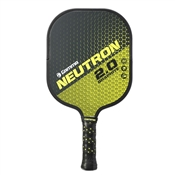Yellow and Black Neutron 2.0 Graphite Pickleball Paddle by Gamma.