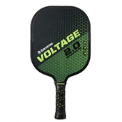 Black and Sage Green Voltage 2.0 Pickleball Paddle by Gamma.
