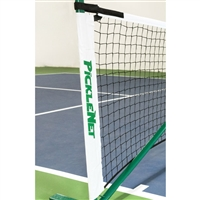 White and Green PickleNet Replacement Net - fits PickleNet Portable Net System with Velcro fasteners and fiberglass rod.