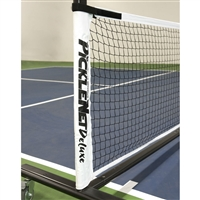 White and Black Deluxe PickleNet Replacement Net - fits Deluxe PickleNet Portable Net System with Velcro fasteners