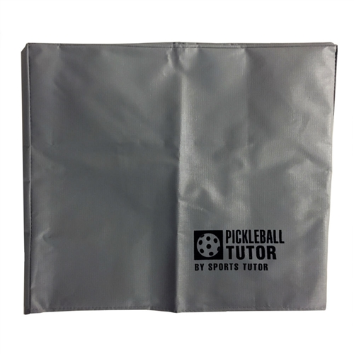 Light Gray Pickleball Tutor Machine vinyl protective cover.