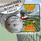 Pickleball Clinics DVD Video with Bonus Lessons DVD