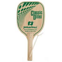Diller Wood Paddle with classic green graphics for pickleball.