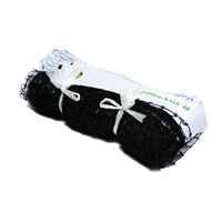 White and Black Pickleball Net for Indoor use, black mesh netting with white headband, easily ties to existing standards.