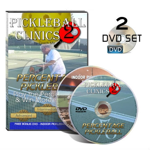 Coach Mo's Pickleball Clinics 2 instructional DVD teaching percentage pickleball.