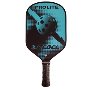 Tan and Black ProLite Rebel PowerSpin Composite Paddle; choose from accent colors of blue, gold, purple, or red.