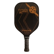 Black ProLite Titan Pro Graphite Pickleball Paddle; choose from accent colors of blue, red, green, gold, or raspberry.