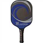 Paddletek graphite Tempest Wave Paddle for Pickleball, available in blue, pink, or red.