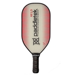 Available in Blue, Red, or Raspberry, the Paddletek Helo Pickleball Paddle features an elongated, oversize design for added power.
