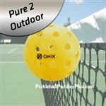 Pickleball Balls Pure 2 Outdoor-Yellow