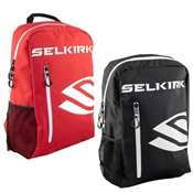 Light, compact backpack for pickleballers. Choose from Black or Red.