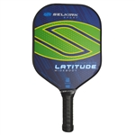 Latitude Composite Pickleball Paddle in five bold colors: Blue Force, Red Force, Raspberry Orange, Lakeside Lime, and Lemon Blueberry.