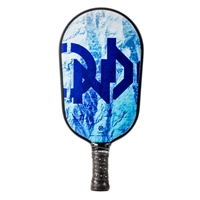 Blue and White Summit Graphite Pickleball Paddle, elongated shape for greater reach.