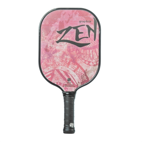 Onix Zen Graphite Paddle for Pickleball, available in black, blue, green, pink, purple, or red.