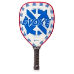 Onix Evoke Teardrop Polymer Composite Paddle for Pickleball, available in black, blue, green, purple, or red.