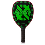 Onix Evoke Graphite Paddle for Pickleball, available in blue, purple, red or white.