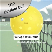 Pickleball Balls TOP Outdoor Yellow Six Pack