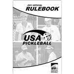 Black and white, spiral-bound Pickleball Rulebook Official Rules of the International Federation of Pickleball.