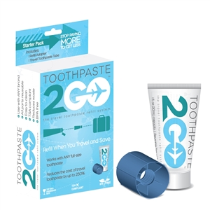 Toothpaste 2 Go Travel Toothpaste Refill System
