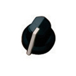 Amp Knob Blk Pointer (Pkg 6)