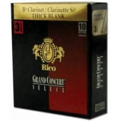 Rico Grand Concert Select Thick Blank Bb Clarinet Reed Box of 10